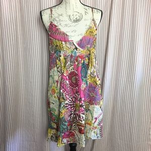 Angie Embroidered Dress with Ruffle Size L